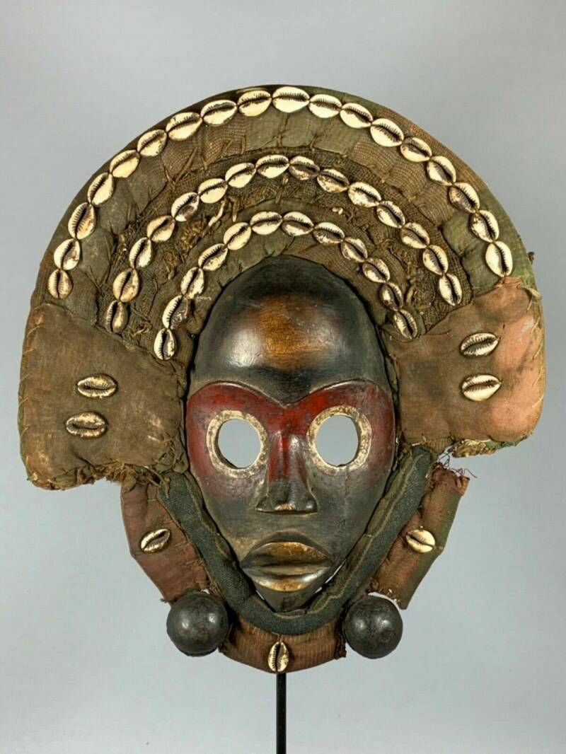 191118 - Old Tribal Used African Dean Gle Mask from the Dan People - Liberia.