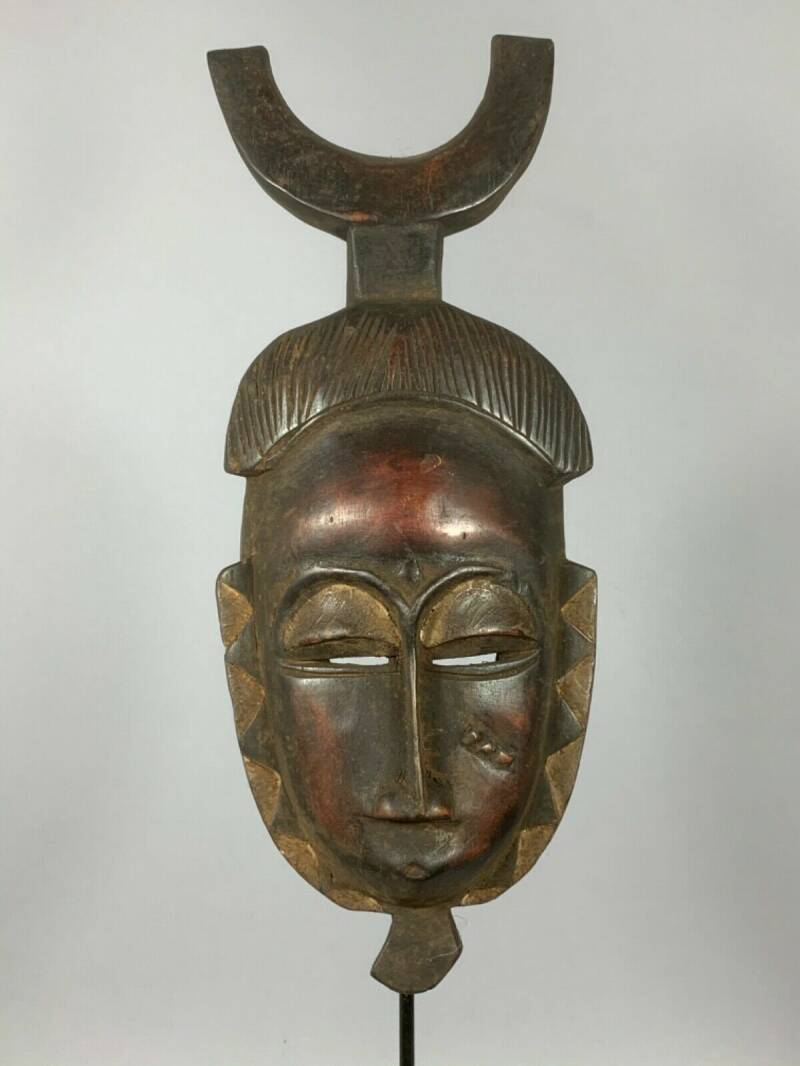 200447 - African Rare & Old Tribal Used Baule mask - Iv. Coast.