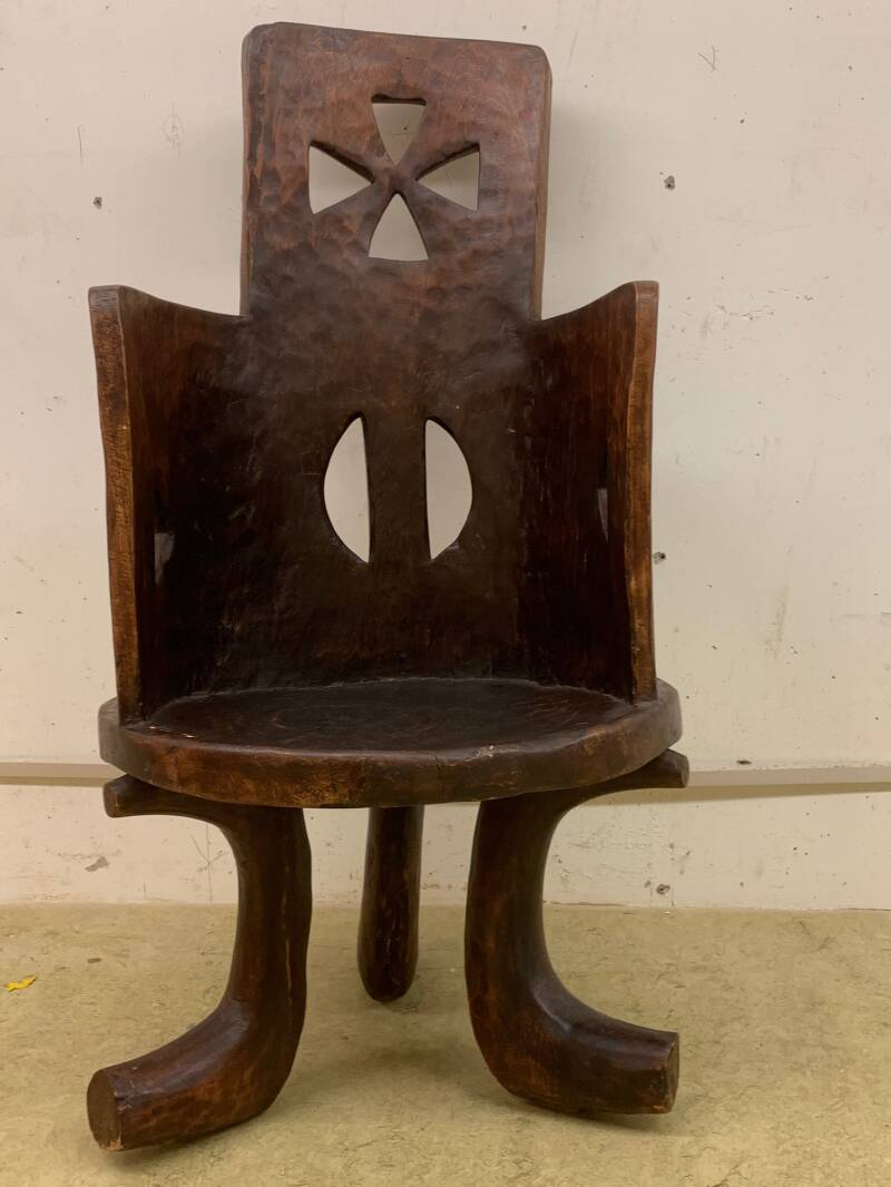 200966 - Tribal Used African Ethiopian Gurage chair - Ethiopia