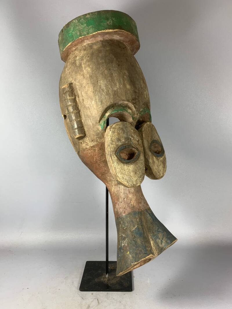 201203 - Tribal Used African Old mask from the Dan KRAN People - Iv. Coast.