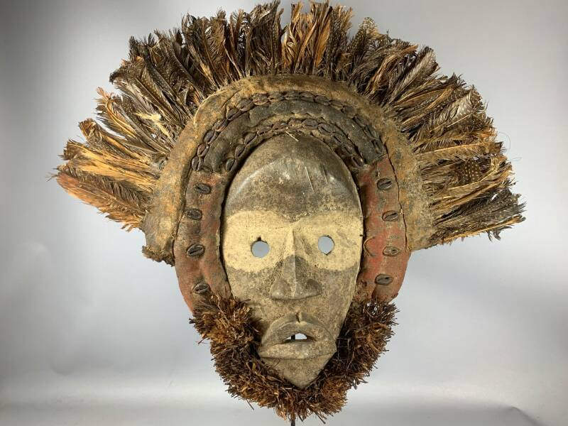 210144 - Old Tribal Used African Dan Gunye Ge Mask - Yv. Coast.