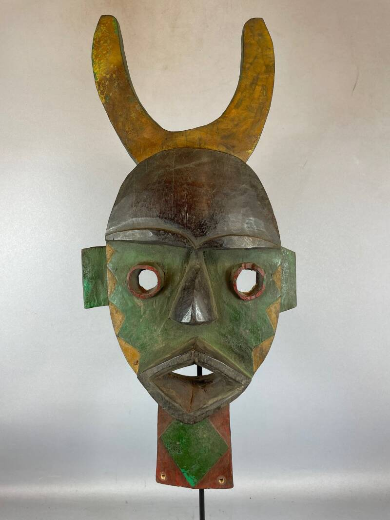 210512 - Tribal Used African mask from the Dan - Liberia.