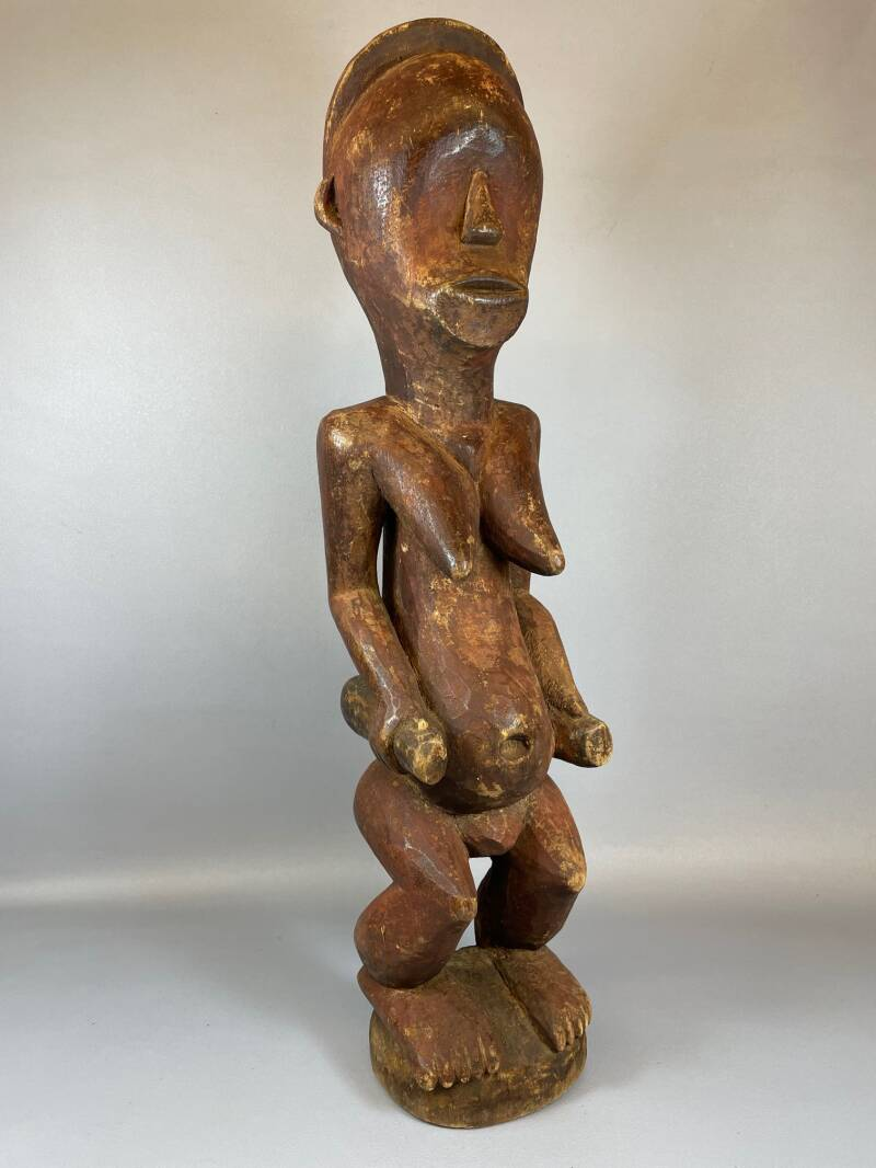 210639 - Old Tribal used African Fang statue - Gabon.