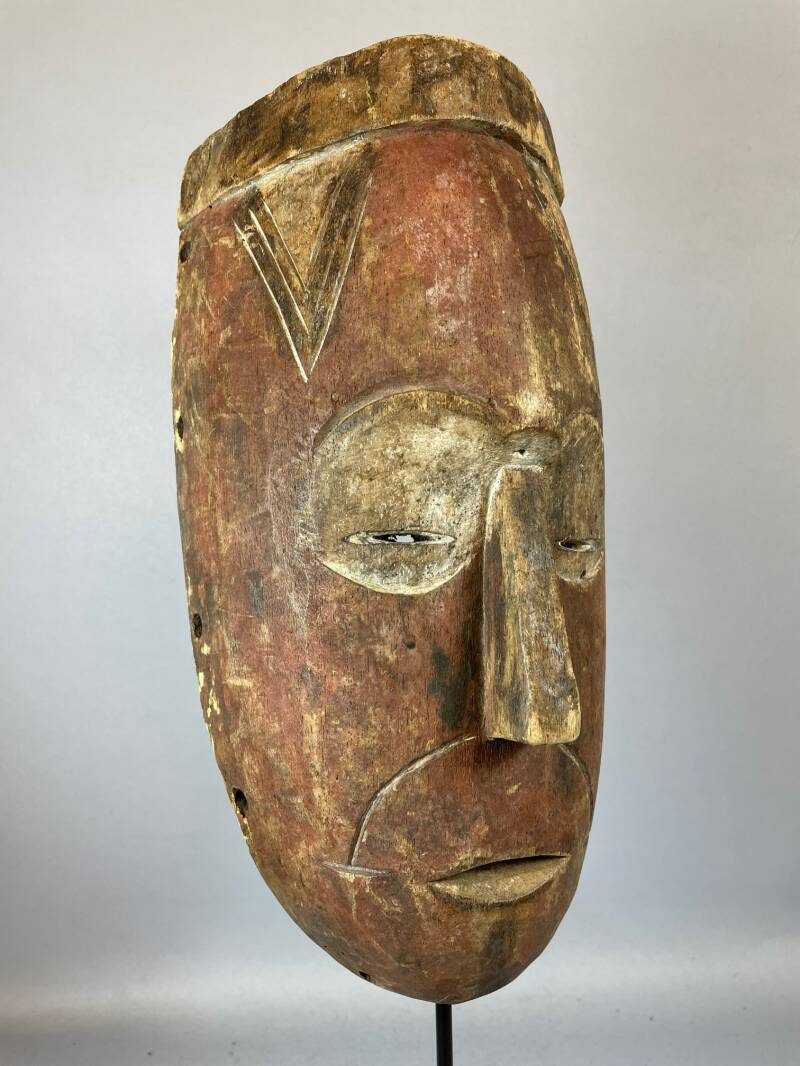 210723 - Tribal used African mask from the Luba - Congo.