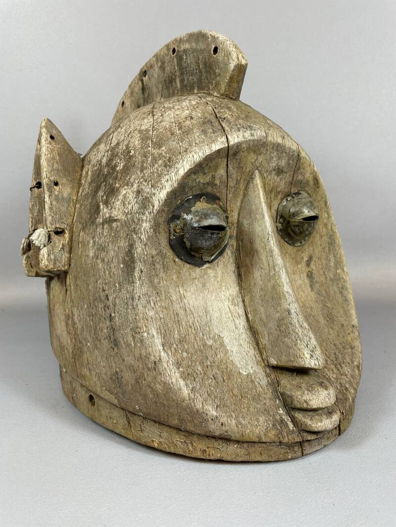 210801- Antique & Very Rare Tribal used African LUBA mask - Congo.