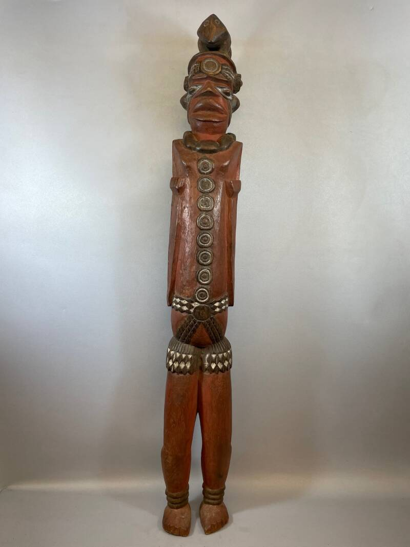 210853 - Old tribal used African We / Guere statue - Liberia