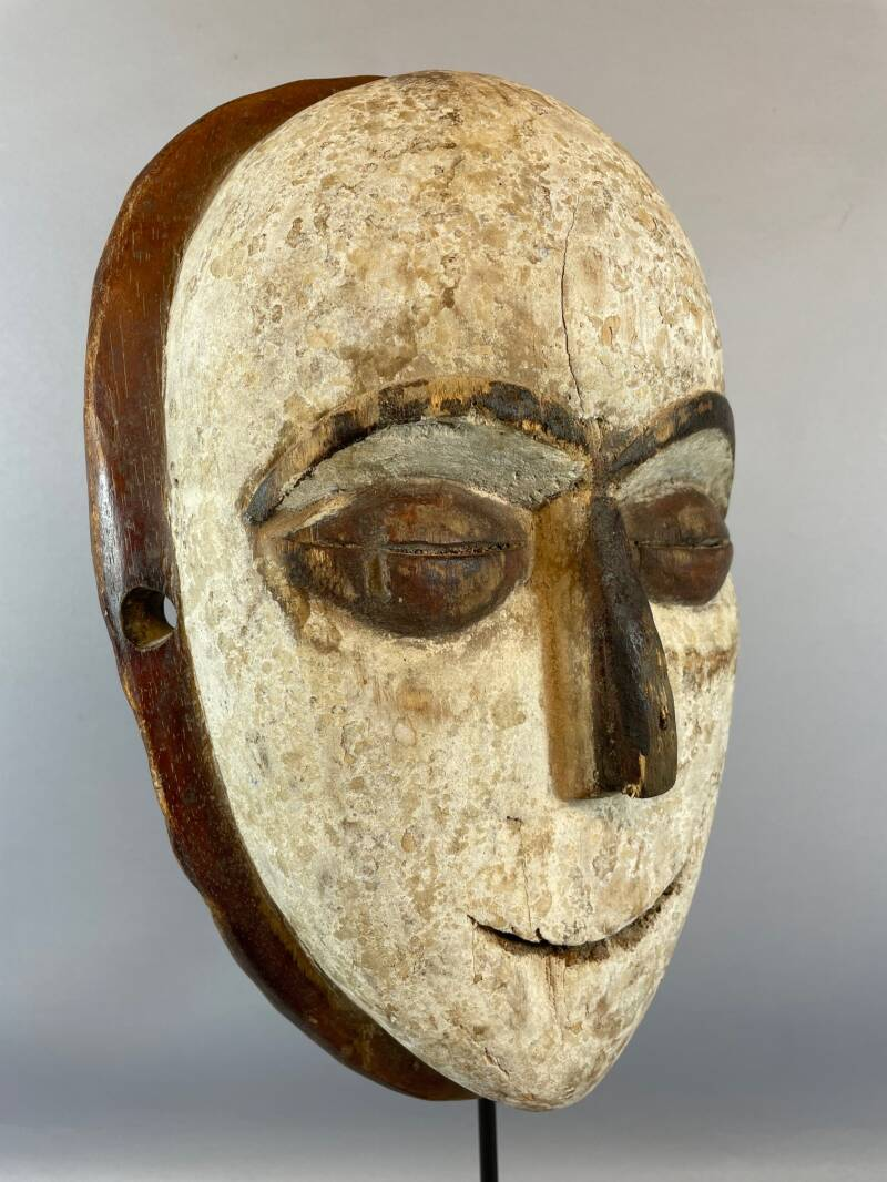 210861 - Tribal used African mask from the Lega Bwami - Congo.
