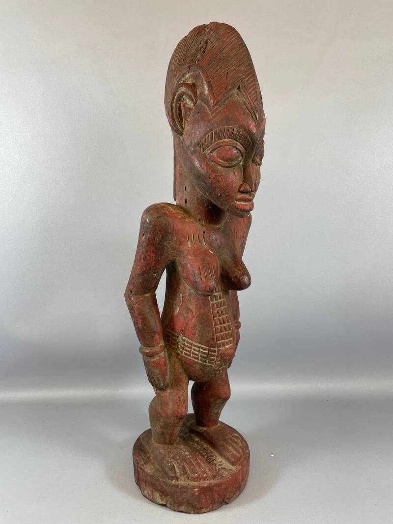 210859 - Old and Rare Tribal used African Old Baule figure - Iv. Coast.