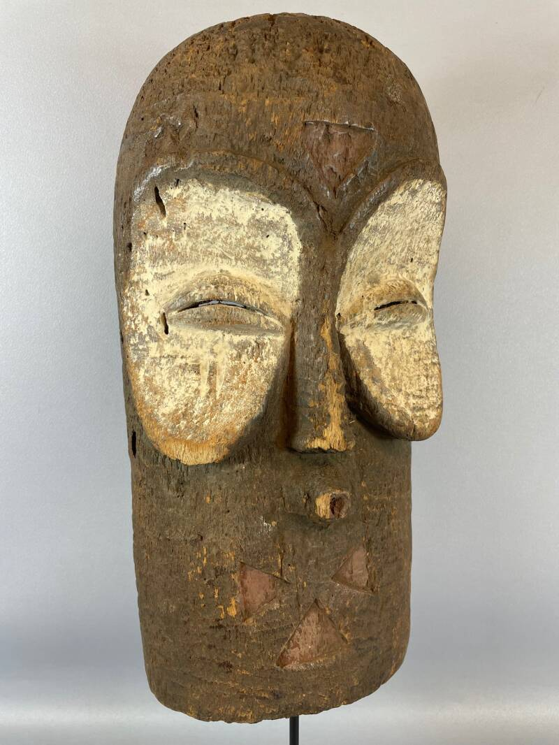 210868 - Old Tribal used African Bembe mask - Congo.