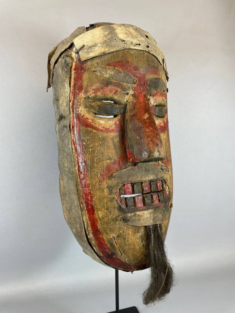 210958 - Old tribal used African We Guere mask - Iv. Coast.