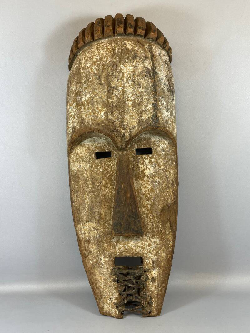 210970 - Large Old & Tribal used African Fang mask - Gabon.