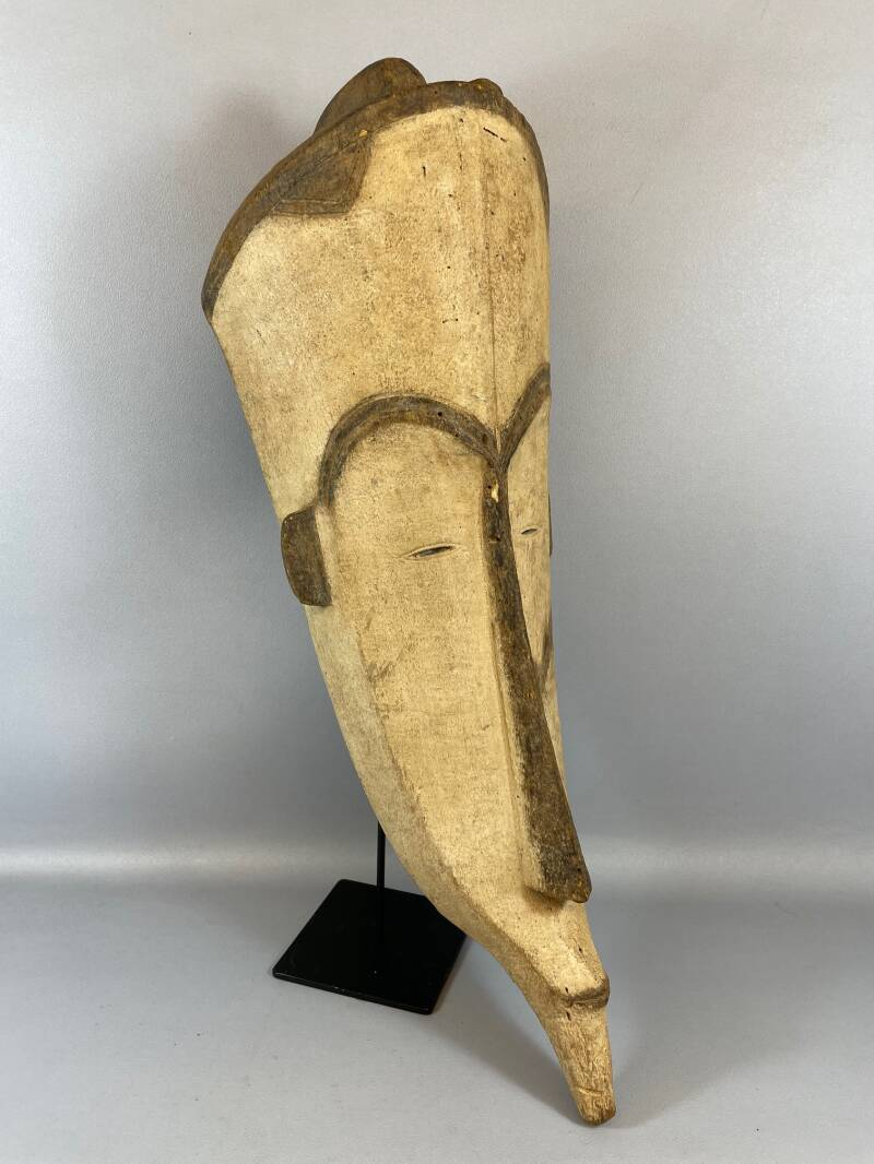210971 - Large Old & Tribal used African Fang mask - Gabon.