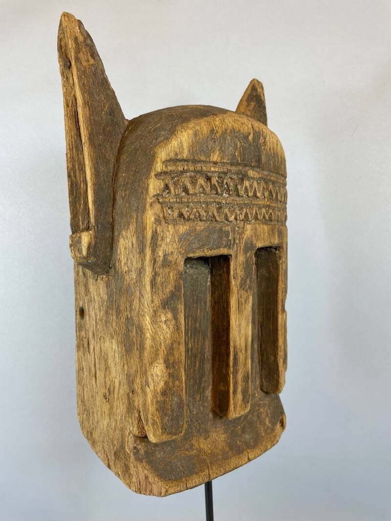 211001 - Old Tribal used African Dogon mask - Mali