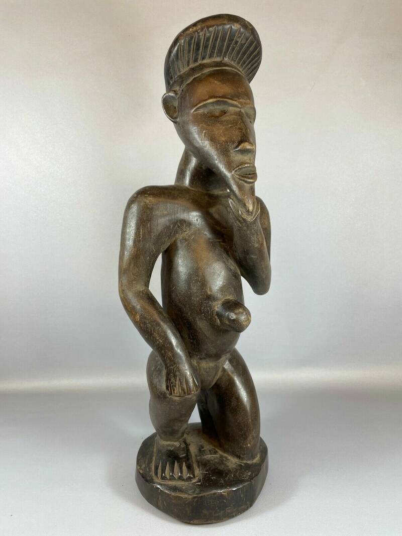 210623 - Old Tribal used African Fang statue - Gabon.