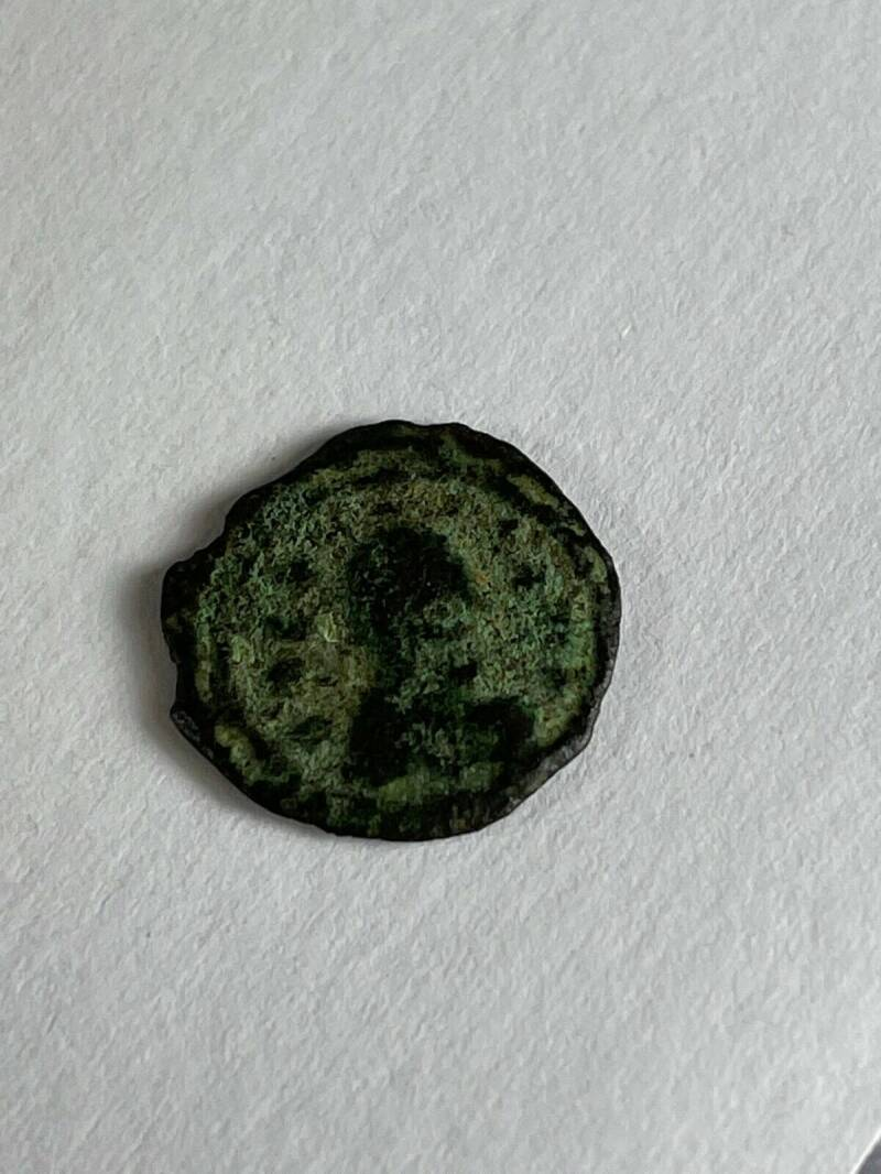 210916 - Kingdom of Aksum or Axum – Brass coin of ANONYMUS (ca. 440-470 A.D.).