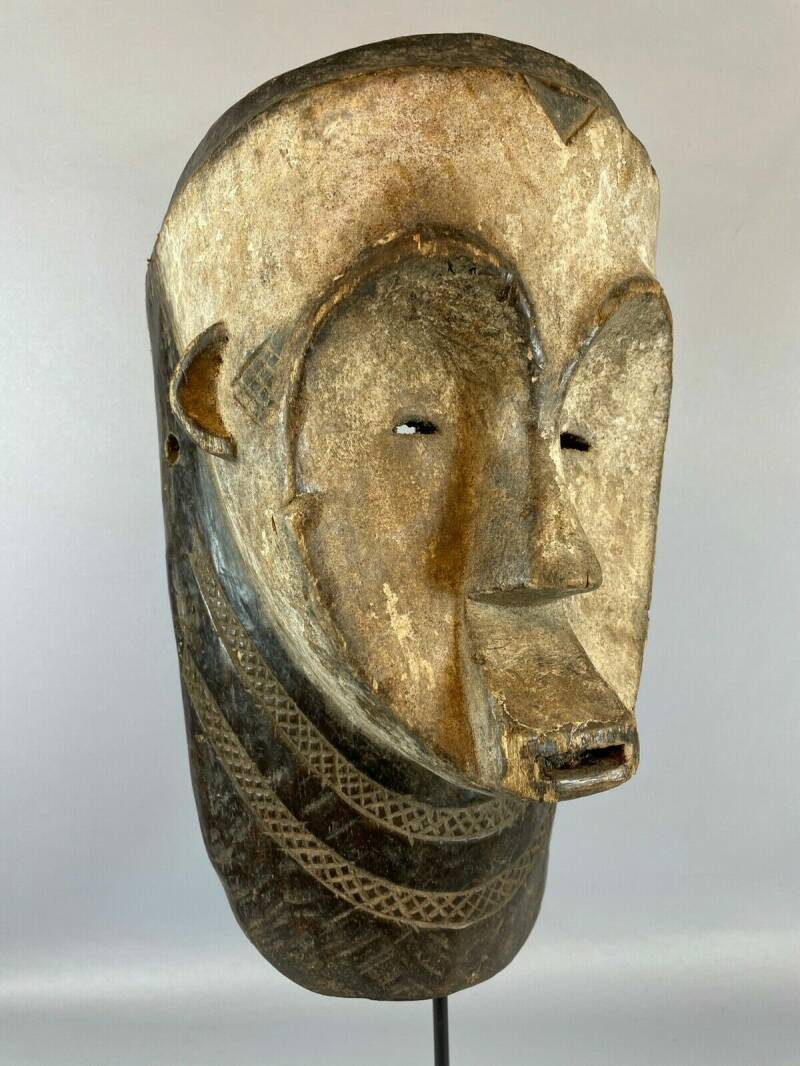 210835 - Old & Tribal used African Fang mask - Gabon.