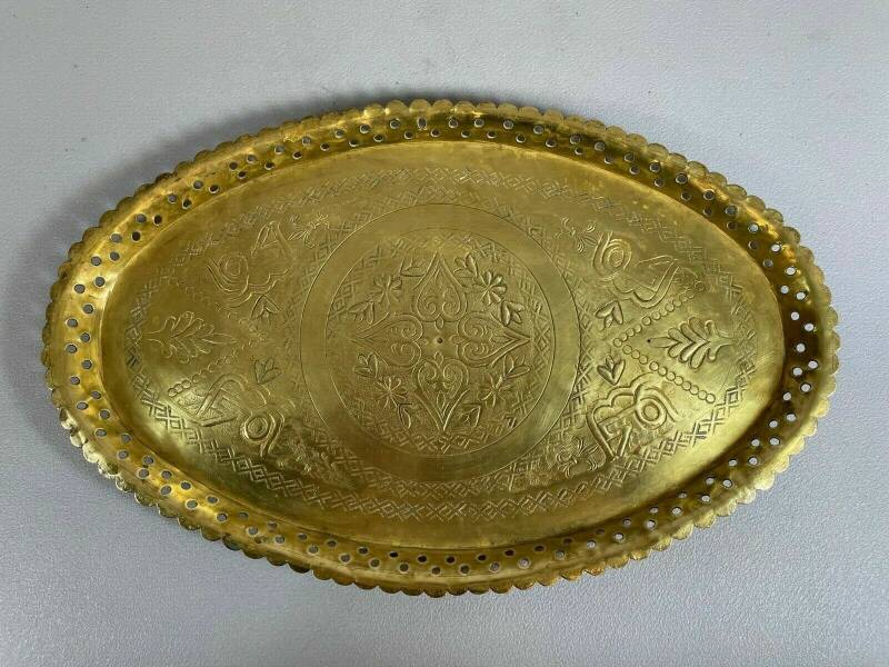 210611 - Rare Old Islamic serving tray from Harar - Ethiopia