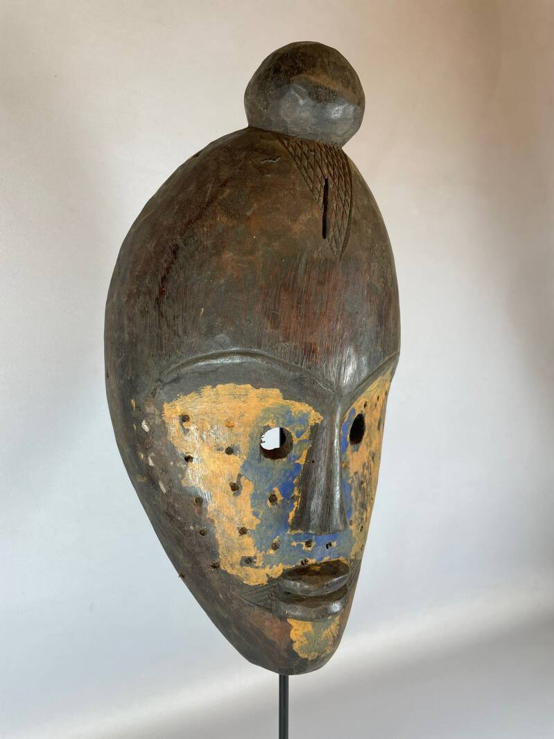210645 - Old Tribal Used African Dean Gle Mask from the Dan People - Liberia.