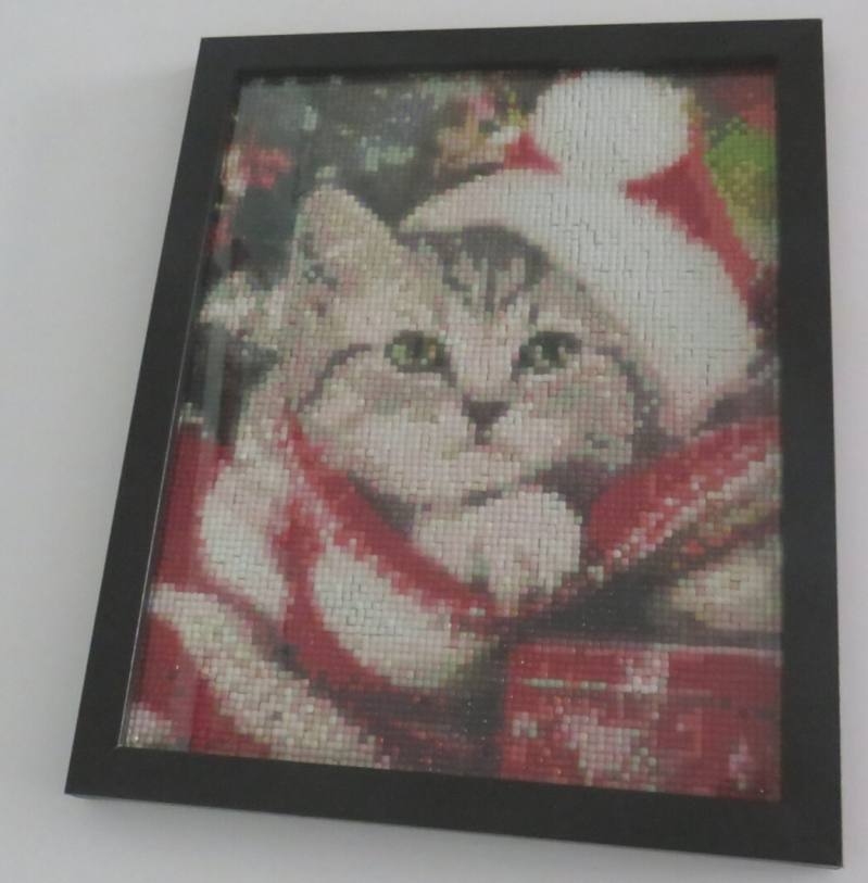 Christmas cat Diamond paining