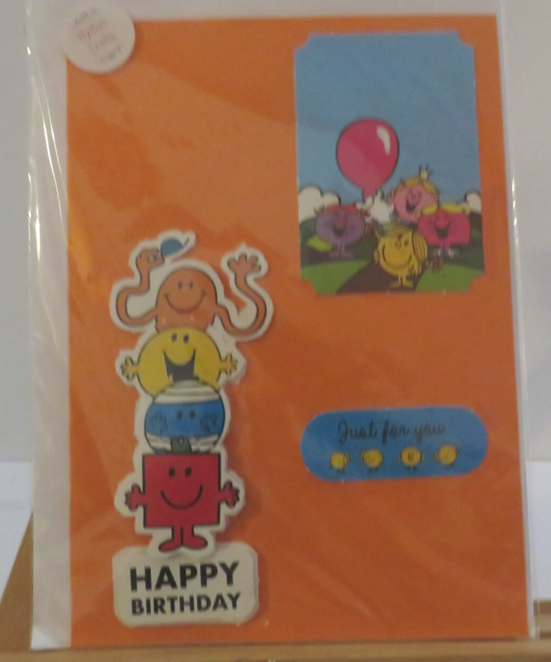 A5 Mr Men and Little Miss decopage card