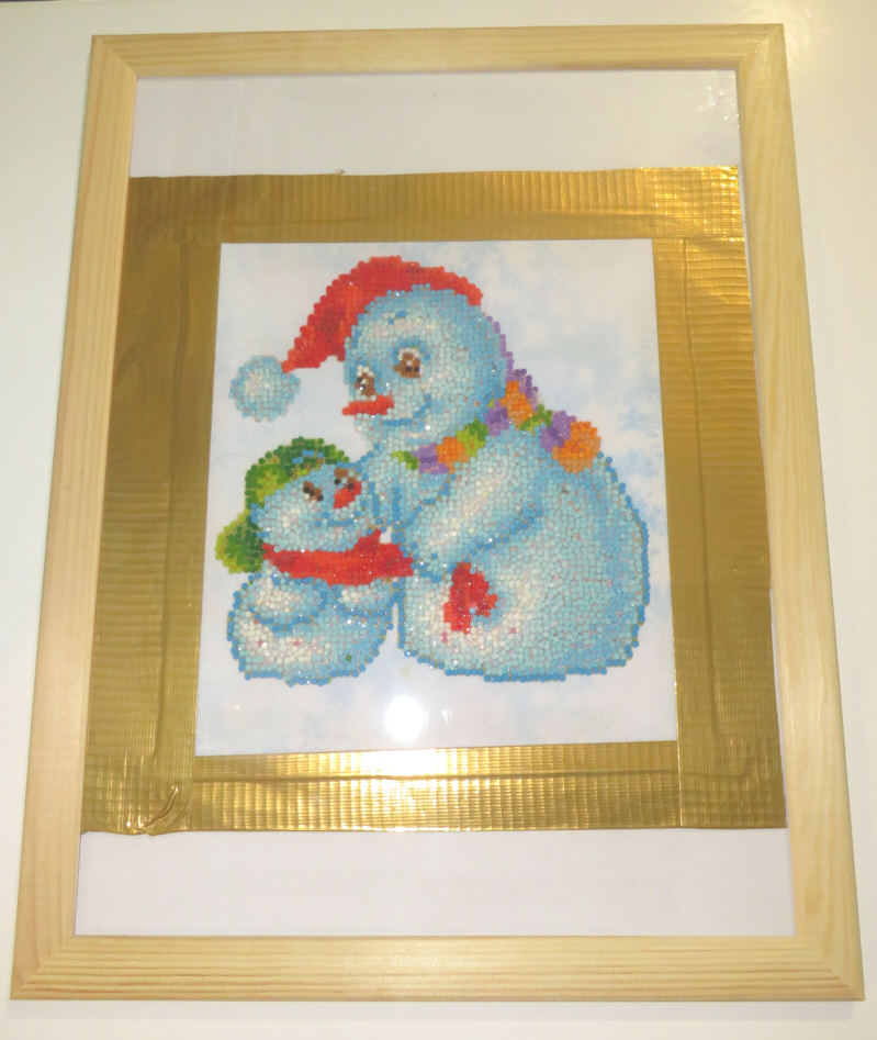 Two snowman Diamond painting