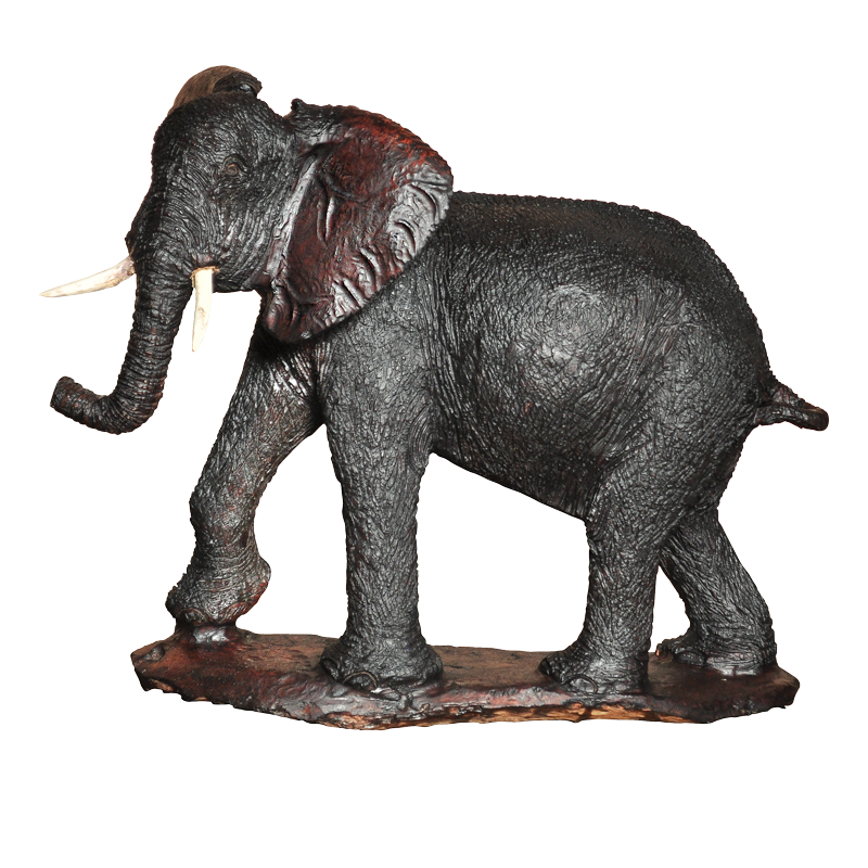 Afrikaans beeld hout - mahonie - Olifant M