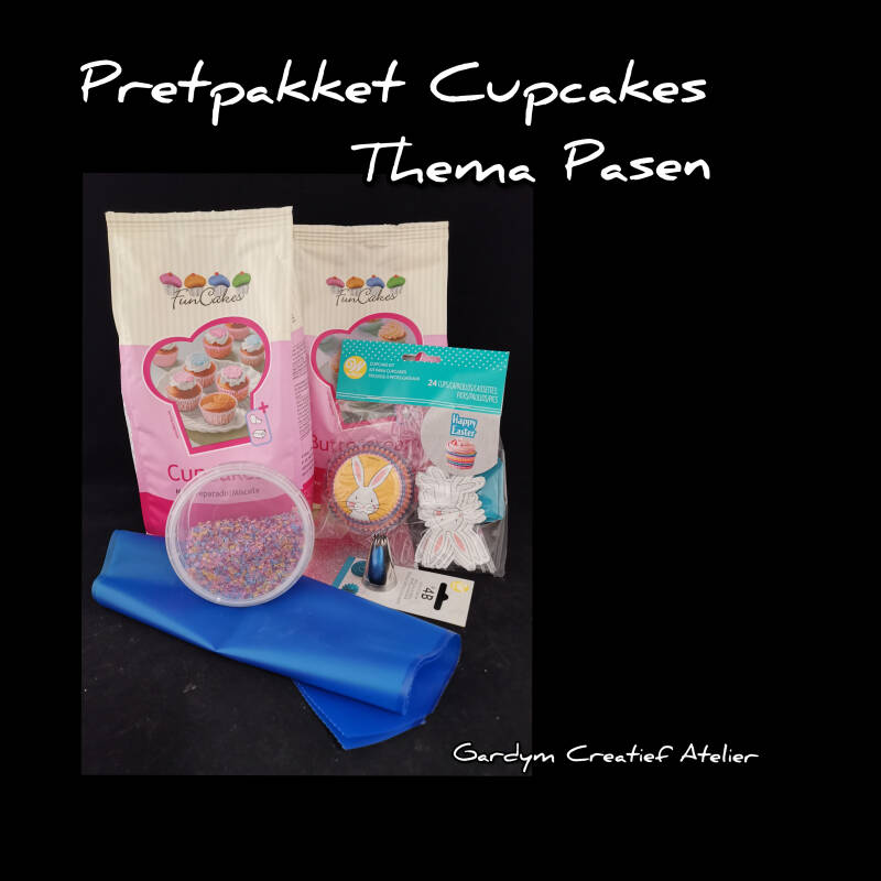 Pretpakket Cupcakes - Thema Happy Easter