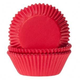 House of Marie Cupcakevormpjes Red Velvet Rood - pk/50 Art.nr: HM0077
