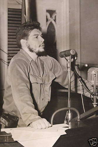 Vintage photo Ché Guevara Cuba revolution 1961
