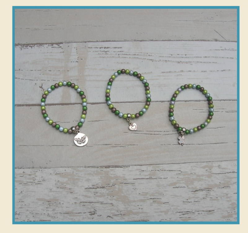 Armband set Mint green