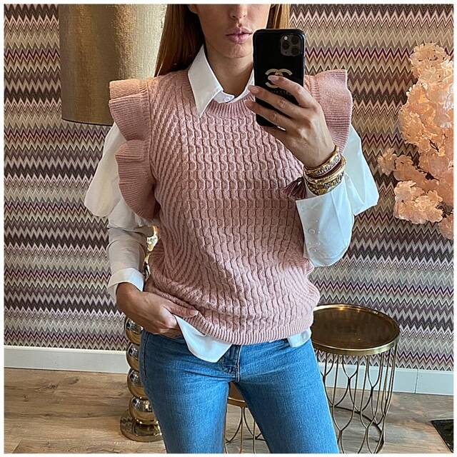 Ruffle Spencer Pink Sale