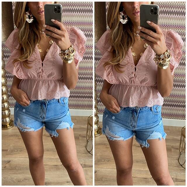 Broderie Top Rose
