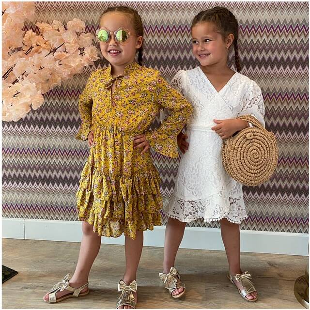Yellow Dress flower kids 1
