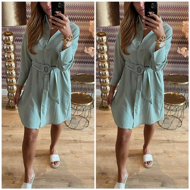 Linnen mint dress