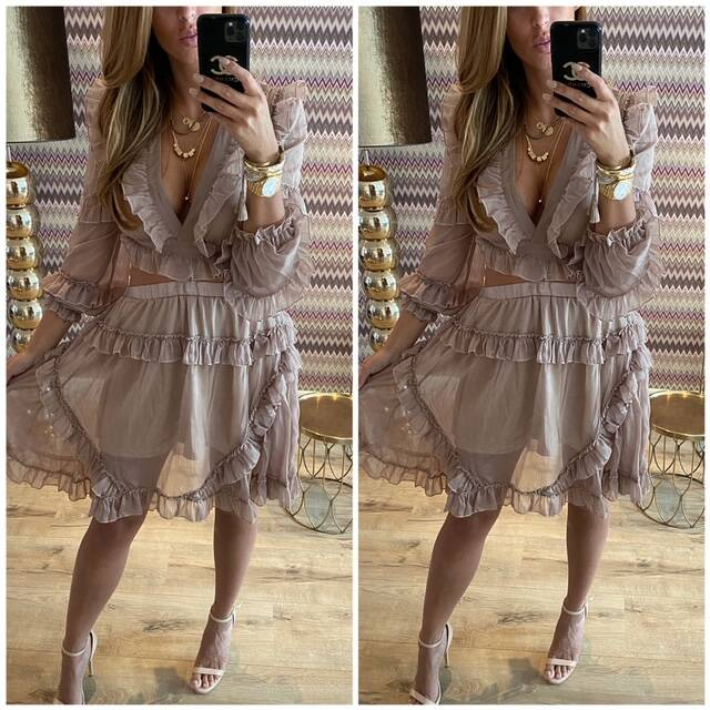 Taupe color lux dress