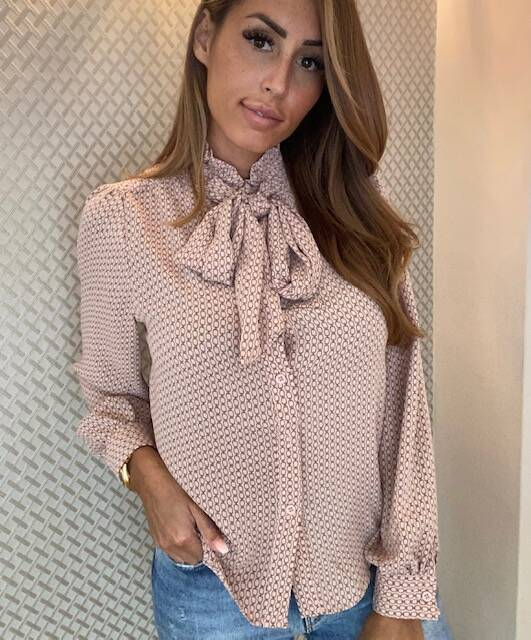 Bow Blouse Pink