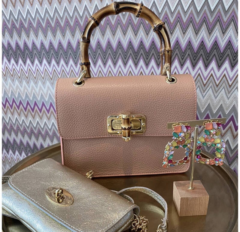 Pink Leather Guc Bag