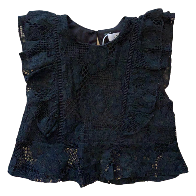 Kids Black Lace Top