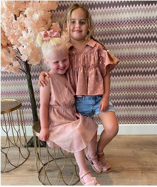 Kids Dress Golden Feather