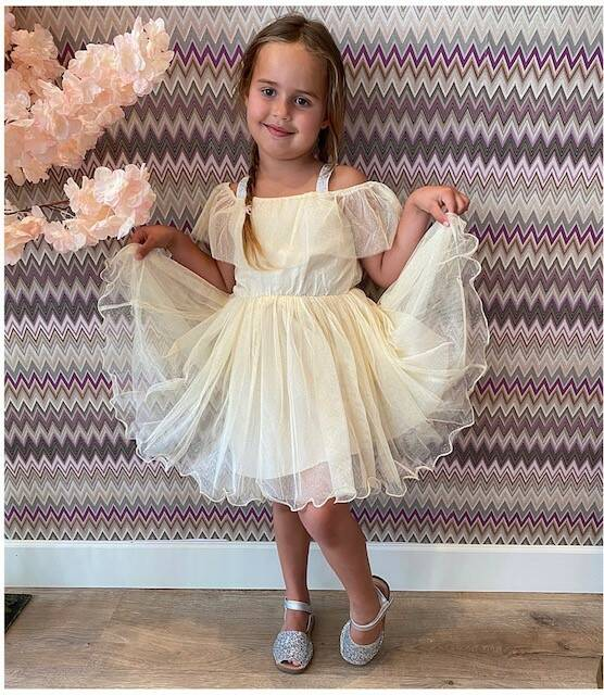 Kids Yellow Tule Dress