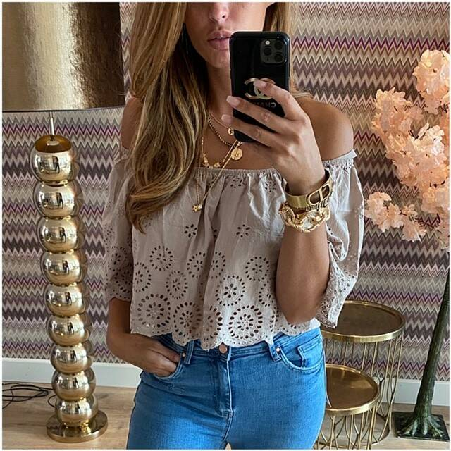 Taupe Brod Top