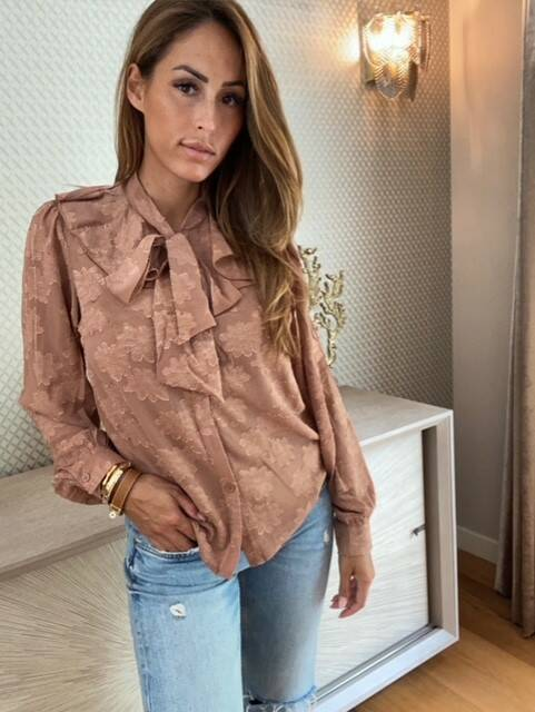 Camel Bow Blouse