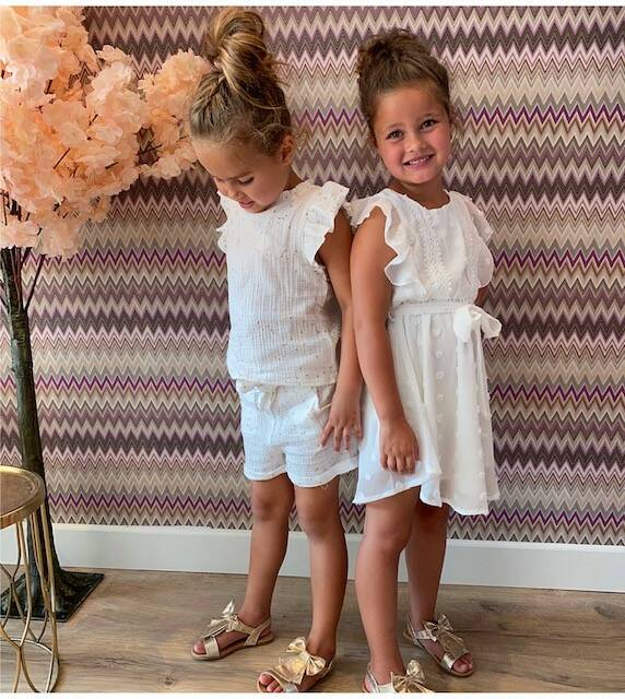 Kids Cute Dress White