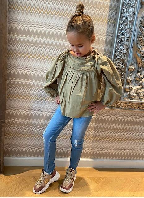 Kids Olive Green Blouse