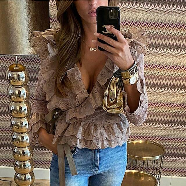 Lace Blouse Taupe