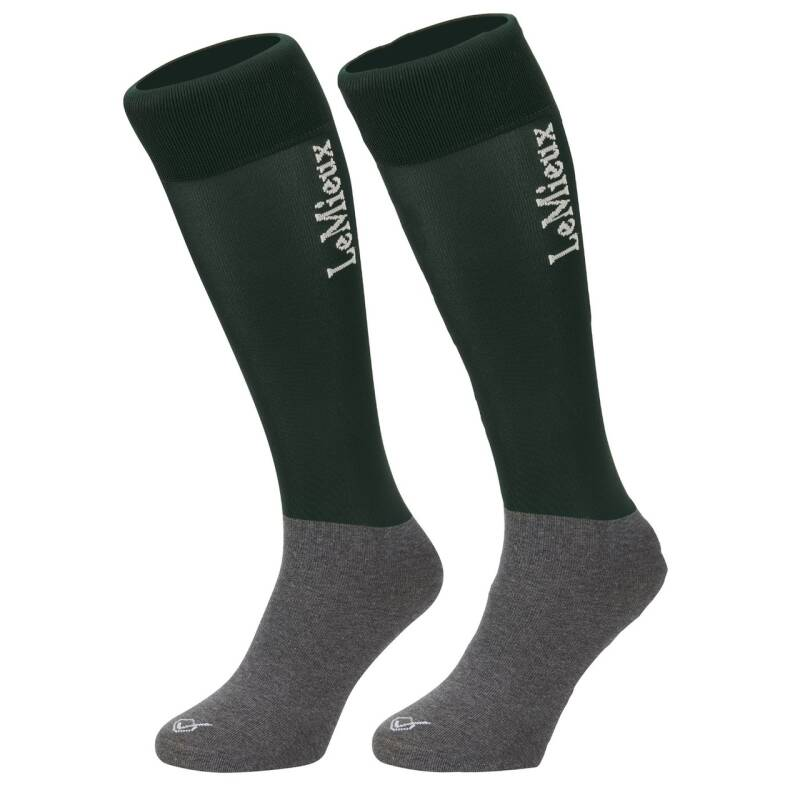 Le Mieux Competition Sock Green (Twin Pack)