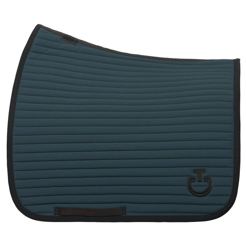 Cavalleria Toscana Quilted Row Jersey Dressage Saddle Pad Green