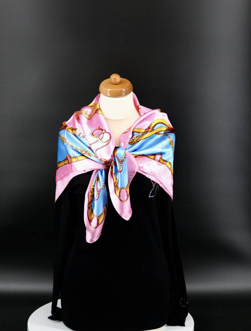 Sjaal Equestrian Style Soft Pink Silky feel