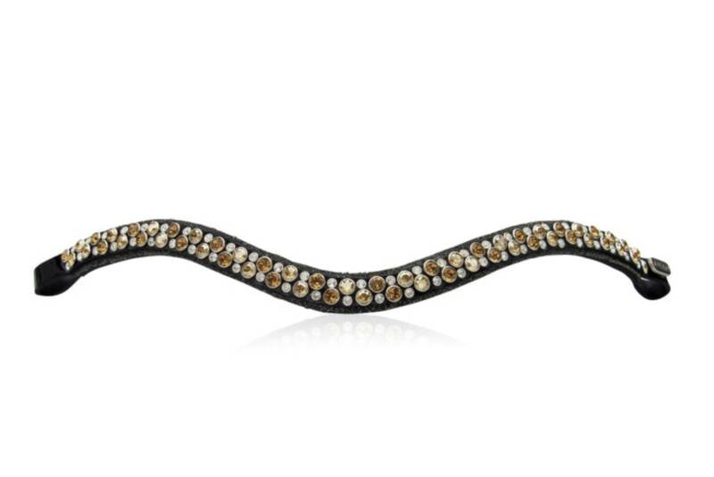 Judi Frontriem - Browband Crystal Fabric II Odessa Double Colorado Gold