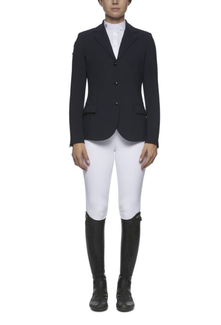 Cavalleria Toscana Competition Riding Jacket With Piping Navy